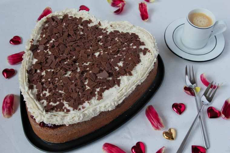 schoko-preiselbeer-torte